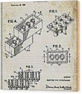 1961 Lego Patent Wood Print
