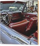 1961 Lincoln Continental Interior Wood Print