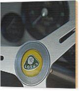 1961 Lotus Elite Series II Coupe Steering Wheel Emblem Wood Print