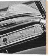 1961 Mercedes-benz 300 Sl Roadster Dashboard Emblem Wood Print