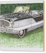 1961 Nash Metro Convertible Wood Print