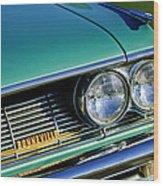 1961 Pontiac Bonneville Grille Emblem Wood Print