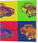 1962 Chevrolet Corvette Pop Art Wood Print