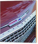 1962 Chevrolet Impala Ss Grille Wood Print