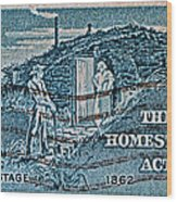1962 Homestead Act Stamp Wood Print