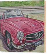 1962 Mercedes Benz 190sl Wood Print