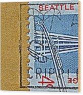 1962 Seattle World's Fair Stamp Wood Print