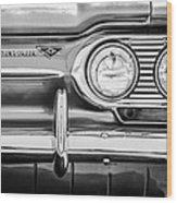 1963 Chevrolet Corvair Monza Spyder Headlight Emblem -0594bw Wood Print