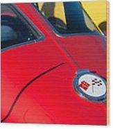 1963 Chevrolet Corvette Convertible Emblem Wood Print