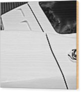 1963 Chevrolet Corvette Split Window -556bw Wood Print