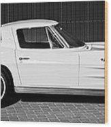 1963 Chevrolet Corvette Split Window -575bw Wood Print