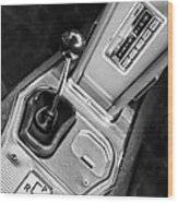 1963 Chevrolet Corvette Split Window Dash -155bw Wood Print