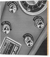 1963 Chevrolet Corvette Split Window Dash -334bw Wood Print