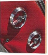 1963 Chevrolet Corvette Split Window Door Latch -292c Wood Print