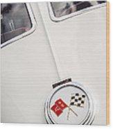 1963 Chevrolet Corvette Split Window Emblem -445c Wood Print