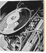 1963 Chevrolet Corvette Split Window Engine -147bw Wood Print