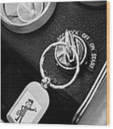 1963 Chevrolet Corvette Split Window - Mr Zip Key Ring -173bw Wood Print