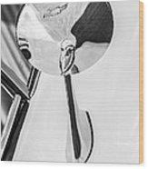 1963 Chevrolet Corvette Split Window Rear View Mirror -287bw Wood Print