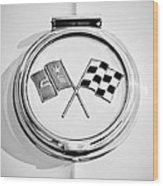 1963 Chevrolet Corvette Split Window - Sting Ray Emblem -257bw2 Wood Print