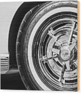 1963 Chevrolet Corvette Split Window Wheel -090bw Wood Print