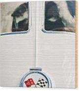 1963 Chevrolet Corvette Split Window Wheel Emblem -118c Wood Print