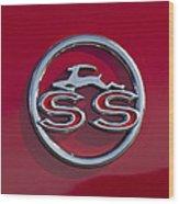 1963 Chevrolet Impala Ss Emblem Wood Print