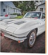 1963 Chevy Corvette Coupe Painted  Wood Print