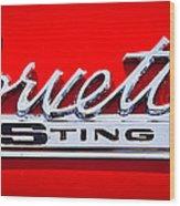 1963 Chevy Corvette Stingray Emblem Wood Print