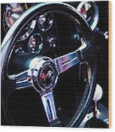 1963 Chevy Corvette Stingray Steering Wheel Wood Print