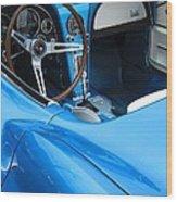 1963 Corvette Driver Approach Wood Print