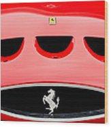 1963 Ferrari 250 Gto Grille Emblem -1753c Wood Print