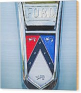 1963 Ford Falcon Futura Convertible Emblem Wood Print by Jill Reger