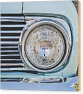 1963 Ford Falcon Futura Convertible Headlight - Hood Ornament Wood Print