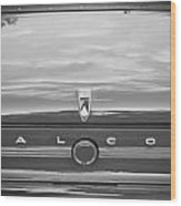 1963 Ford Falcon Sprint Convertible Bw    Wood Print by Rich Franco