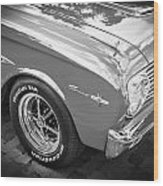 1963 Ford Falcon Sprint Convertible  Bw Wood Print
