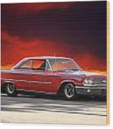 1963 Ford Galaxie 427 Wood Print by Dave Koontz