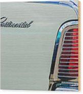 1963 Lincoln Continental Taillight Emblem -0905bw Wood Print