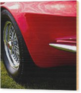 1963 Red Chevy Corvette Stingray Wood Print