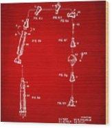 1963 Space Capsule Patent Red Wood Print
