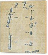 1963 Space Capsule Patent Vintage Wood Print