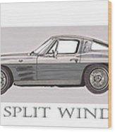 1963 Split Window Wood Print