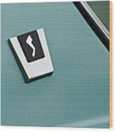 1963 Studebaker Avanti Emblem Wood Print