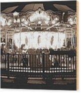 1964 Allan Herschell Carousel Wood Print