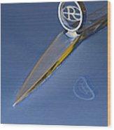 1964 Buick Riviera 2 Door Hardtop Hood Ornament Wood Print by Jill Reger