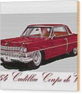 1964 Cadillac Coupe De Ville Wood Print