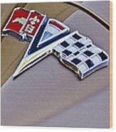1964 Chevrolet Corvette Coupe Emblem Wood Print