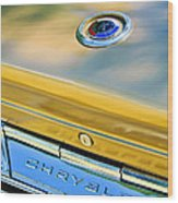 1964 Chrysler 300k Convertible Emblem -3529c Wood Print