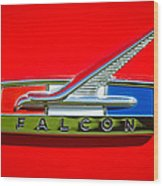 1964 Ford Falcon Emblem Wood Print