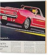 1964 - Ford Mustang Convertible - Advertisement - Color Wood Print