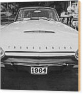 1964 Ford Thunderbird Painted Bw Wood Print